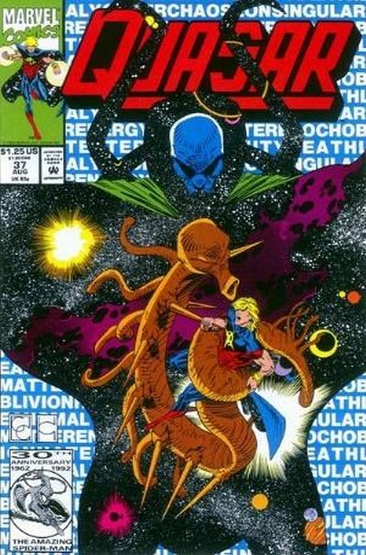 Cover of Quasar (Vol 1) #37. One of 250,000 Vintage American Comics on sale from Krypton!