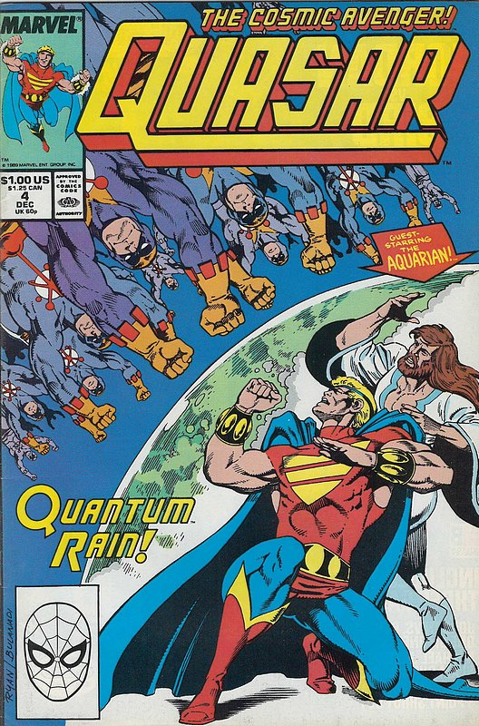 Cover of Quasar (Vol 1) #4. One of 250,000 Vintage American Comics on sale from Krypton!