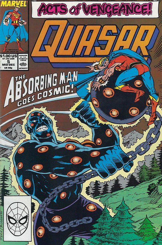 Cover of Quasar (Vol 1) #5. One of 250,000 Vintage American Comics on sale from Krypton!