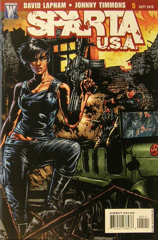 Cover of Sparta: USA (2010 Ltd) #5. One of 250,000 Vintage American Comics on sale from Krypton!