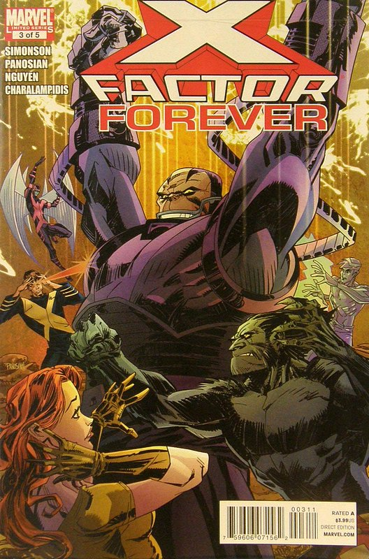 Cover of X-Factor Forever #3. One of 250,000 Vintage American Comics on sale from Krypton!