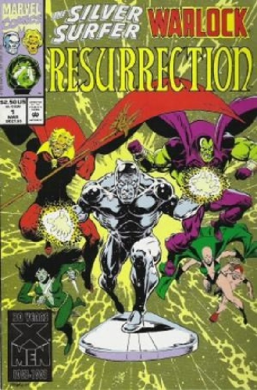 Cover of Silver Surfer/Warlock: Resurrection (1993 Ltd) #1. One of 250,000 Vintage American Comics on sale from Krypton!