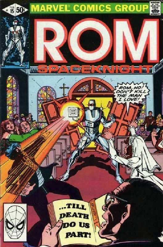 Cover of Rom #15. One of 250,000 Vintage American Comics on sale from Krypton!