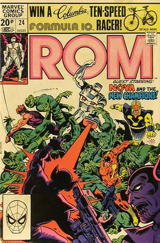 Cover of Rom #24. One of 250,000 Vintage American Comics on sale from Krypton!