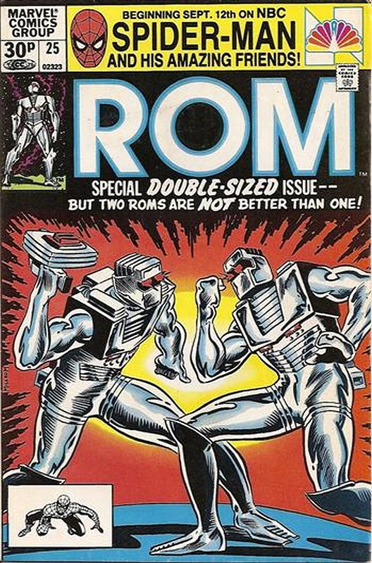 Cover of Rom #25. One of 250,000 Vintage American Comics on sale from Krypton!