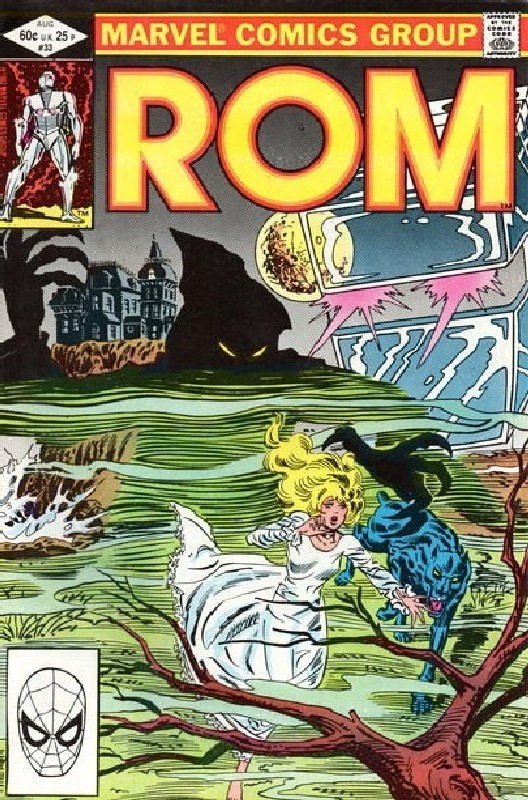 Cover of Rom #33. One of 250,000 Vintage American Comics on sale from Krypton!