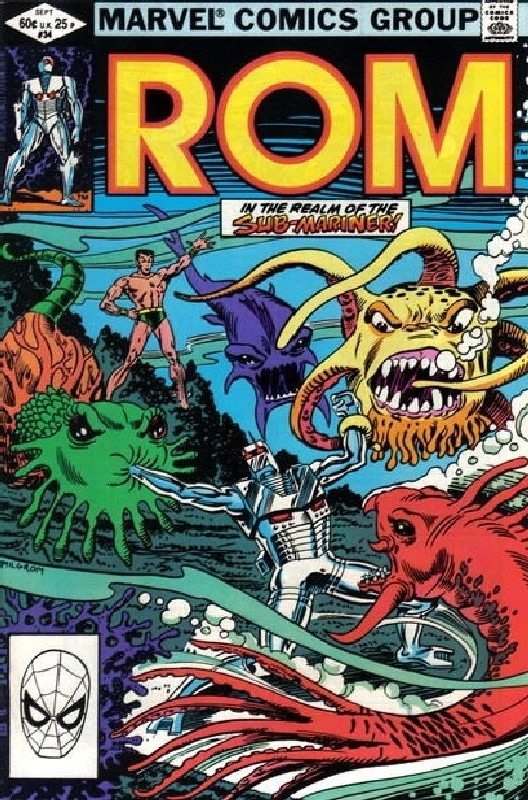 Cover of Rom #34. One of 250,000 Vintage American Comics on sale from Krypton!
