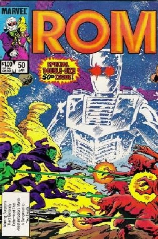Cover of Rom #50. One of 250,000 Vintage American Comics on sale from Krypton!