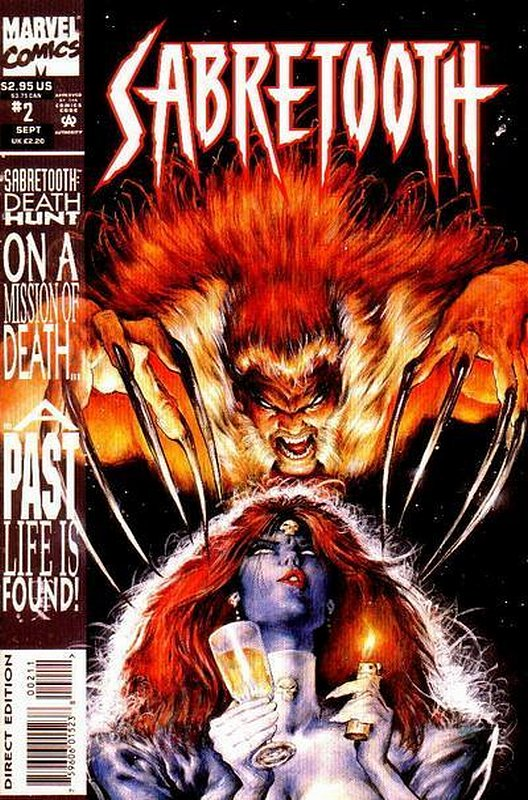 Cover of Sabretooth: Death Hunt (1993 Ltd) #2. One of 250,000 Vintage American Comics on sale from Krypton!