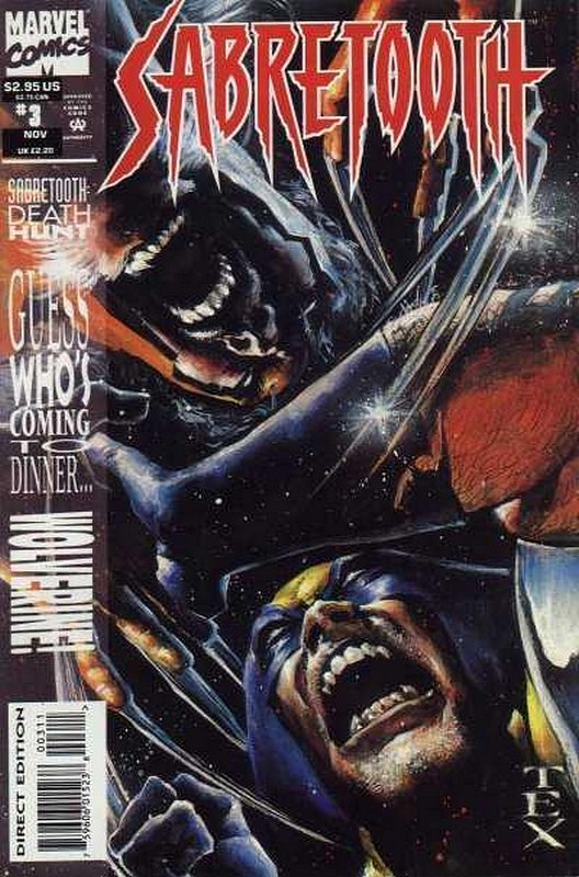 Cover of Sabretooth: Death Hunt (1993 Ltd) #3. One of 250,000 Vintage American Comics on sale from Krypton!