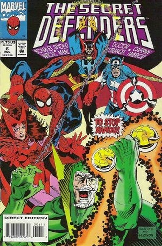 Cover of Secret Defenders (Vol 1) #6. One of 250,000 Vintage American Comics on sale from Krypton!
