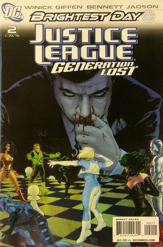 Cover of Justice League: Generation Lost (Vol 1) #2. One of 250,000 Vintage American Comics on sale from Krypton!