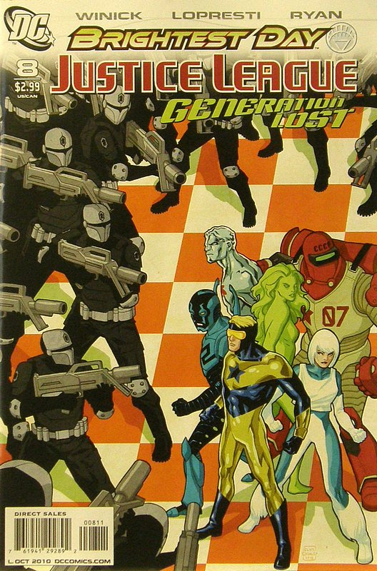 Cover of Justice League: Generation Lost (Vol 1) #8. One of 250,000 Vintage American Comics on sale from Krypton!