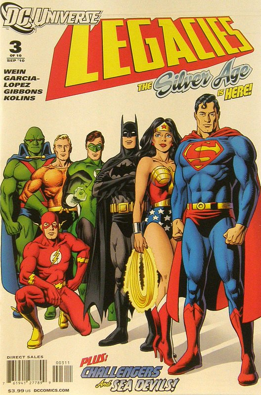 Cover of DC Universe: Legacies (2010 Ltd) #3. One of 250,000 Vintage American Comics on sale from Krypton!