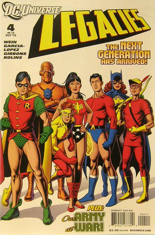 Cover of DC Universe: Legacies (2010 Ltd) #4. One of 250,000 Vintage American Comics on sale from Krypton!
