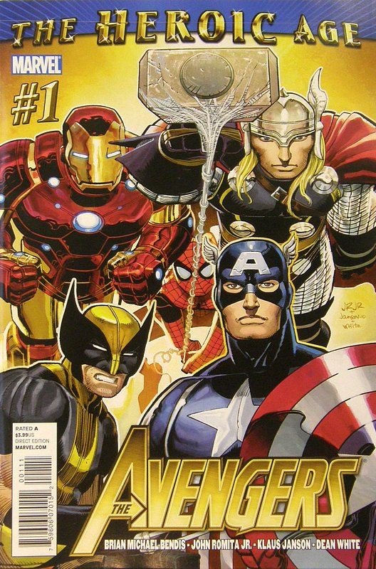 Cover of Avengers (Vol 4) #1. One of 250,000 Vintage American Comics on sale from Krypton!