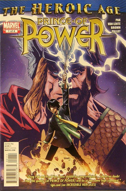 Cover of Heroic Age: Prince of Power (2010 Ltd) #1. One of 250,000 Vintage American Comics on sale from Krypton!