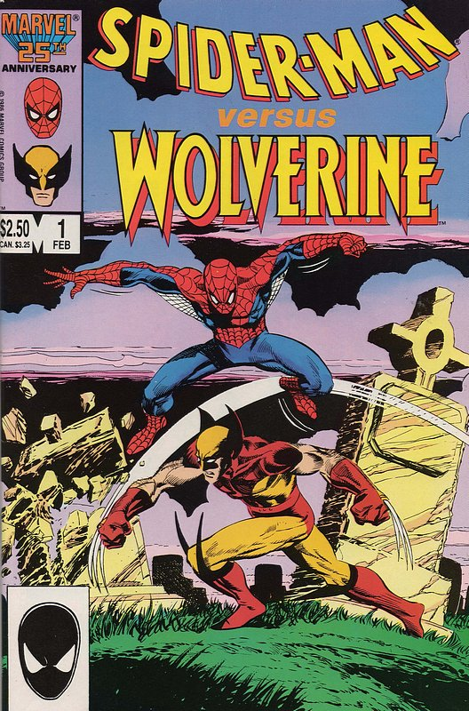 Cover of Spider-Man vs Wolverine #1. One of 250,000 Vintage American Comics on sale from Krypton!