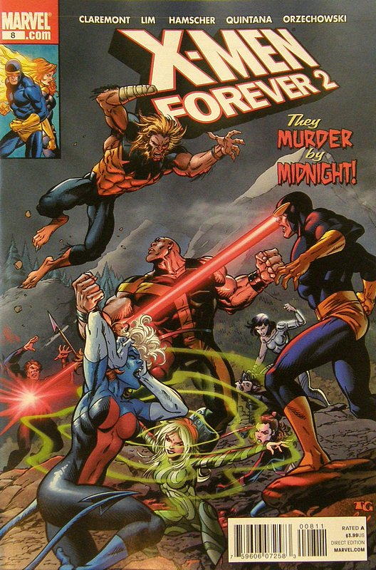 Cover of X-Men Forever (Vol 2) #8. One of 250,000 Vintage American Comics on sale from Krypton!