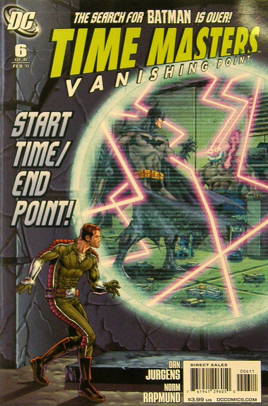 Cover of Time Masters: Vanishing Point (2010 Ltd) #6. One of 250,000 Vintage American Comics on sale from Krypton!
