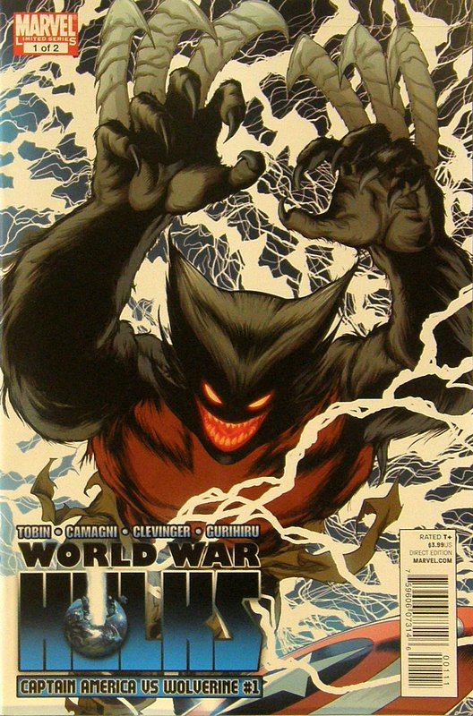 Cover of World War Hulks: Wolverine vs Captain America #1. One of 250,000 Vintage American Comics on sale from Krypton!