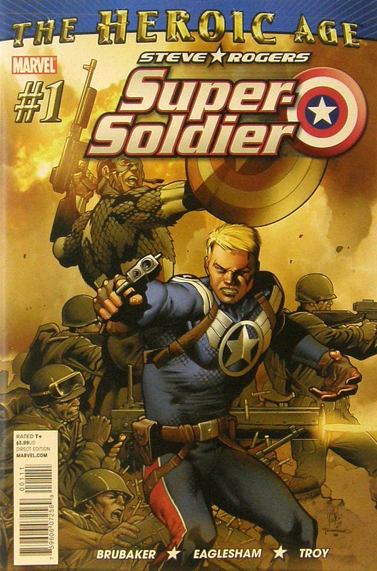Cover of Steve Rogers: Super-Soldier (2010 Ltd) #1. One of 250,000 Vintage American Comics on sale from Krypton!