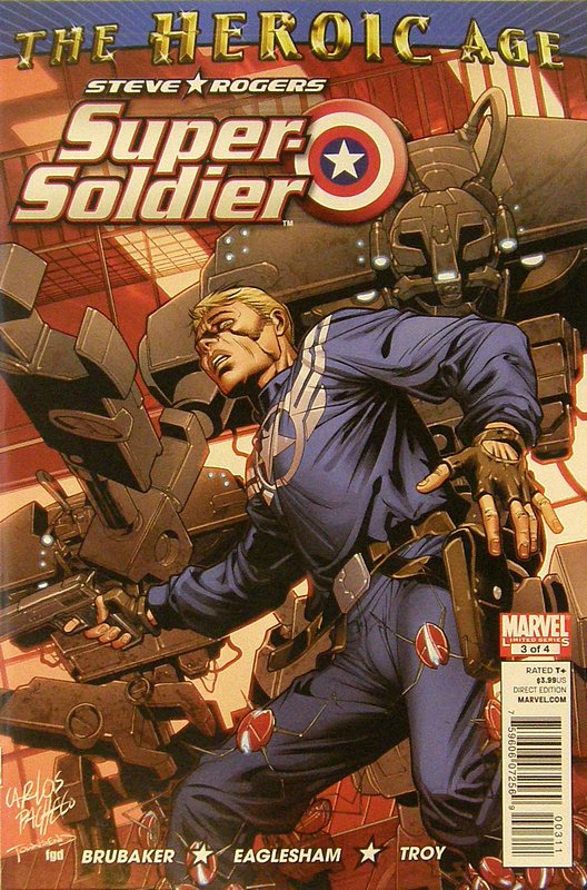 Cover of Steve Rogers: Super-Soldier (2010 Ltd) #3. One of 250,000 Vintage American Comics on sale from Krypton!
