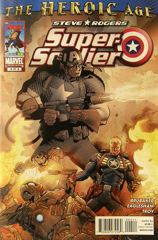 Cover of Steve Rogers: Super-Soldier (2010 Ltd) #4. One of 250,000 Vintage American Comics on sale from Krypton!
