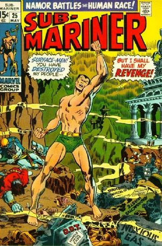 Cover of Sub-Mariner (Vol 1) #25. One of 250,000 Vintage American Comics on sale from Krypton!