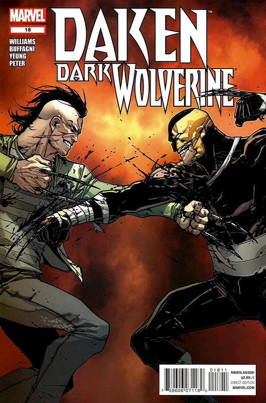 Cover of Daken Dark Wolverine (Vol 1) #18. One of 250,000 Vintage American Comics on sale from Krypton!