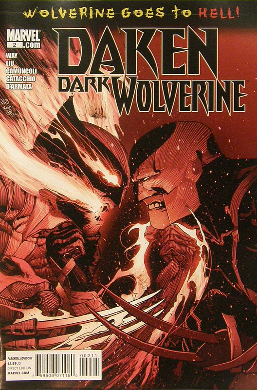 Cover of Daken Dark Wolverine (Vol 1) #2. One of 250,000 Vintage American Comics on sale from Krypton!