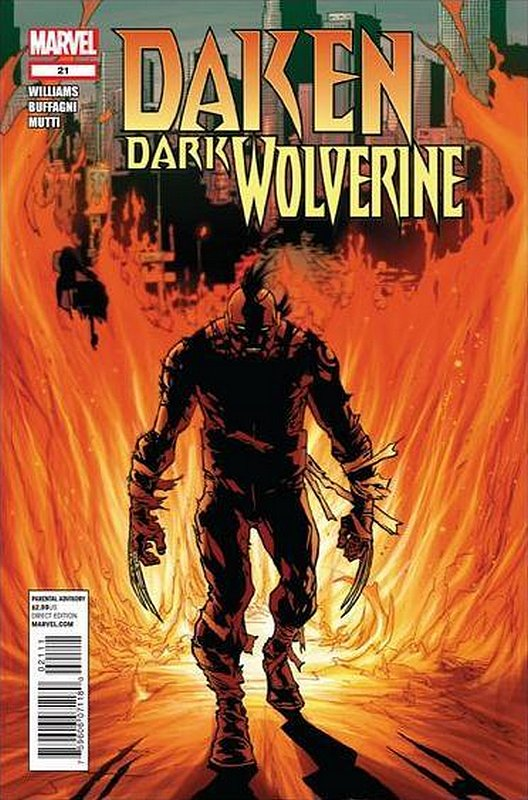 Cover of Daken Dark Wolverine (Vol 1) #21. One of 250,000 Vintage American Comics on sale from Krypton!