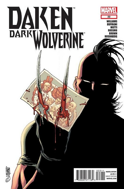Cover of Daken Dark Wolverine (Vol 1) #22. One of 250,000 Vintage American Comics on sale from Krypton!