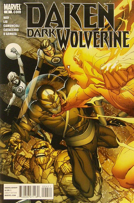 Cover of Daken Dark Wolverine (Vol 1) #4. One of 250,000 Vintage American Comics on sale from Krypton!