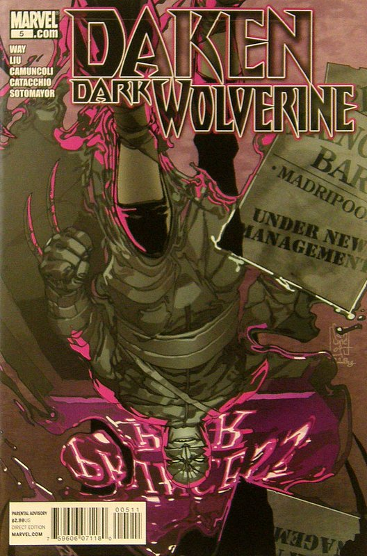 Cover of Daken Dark Wolverine (Vol 1) #5. One of 250,000 Vintage American Comics on sale from Krypton!