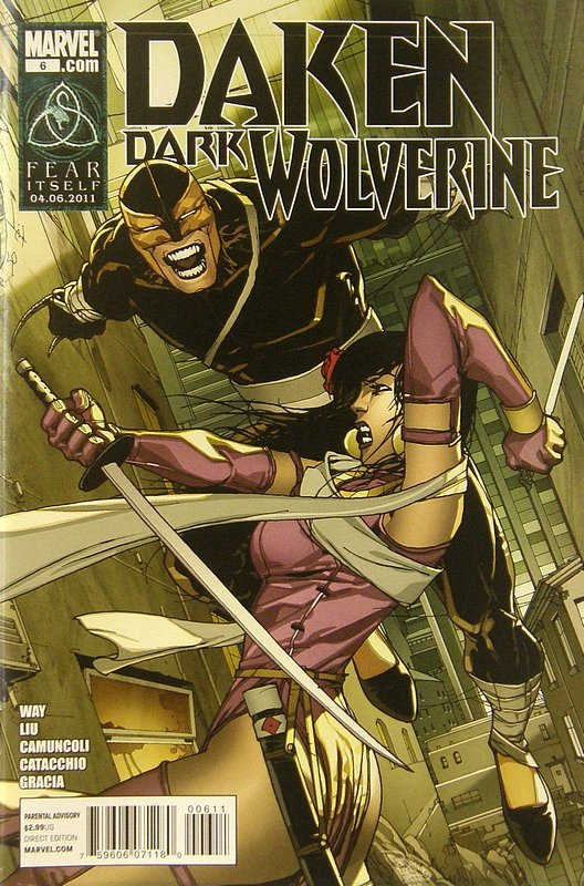 Cover of Daken Dark Wolverine (Vol 1) #6. One of 250,000 Vintage American Comics on sale from Krypton!