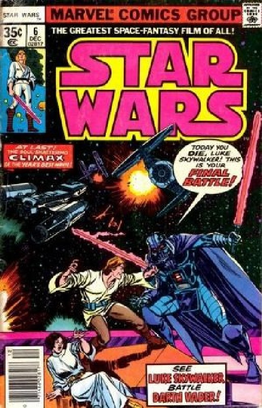 Cover of Star Wars (Vol 1) (Marvel) #6. One of 250,000 Vintage American Comics on sale from Krypton!