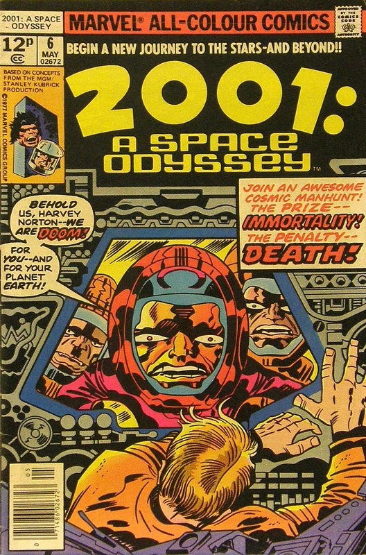 Cover of 2001: A Space Odyssey (Vol 1) #6. One of 250,000 Vintage American Comics on sale from Krypton!