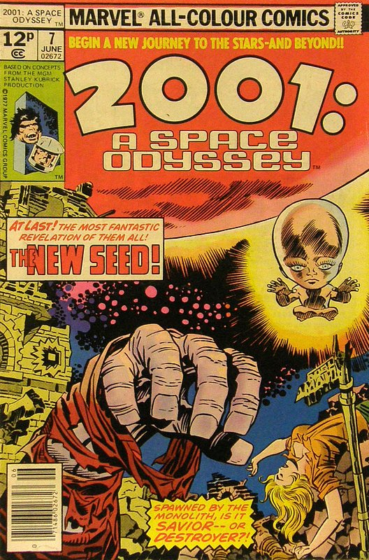 Cover of 2001: A Space Odyssey (Vol 1) #7. One of 250,000 Vintage American Comics on sale from Krypton!