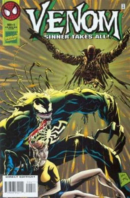 Cover of Venom: Sinner Takes All (1995 Ltd) #4. One of 250,000 Vintage American Comics on sale from Krypton!