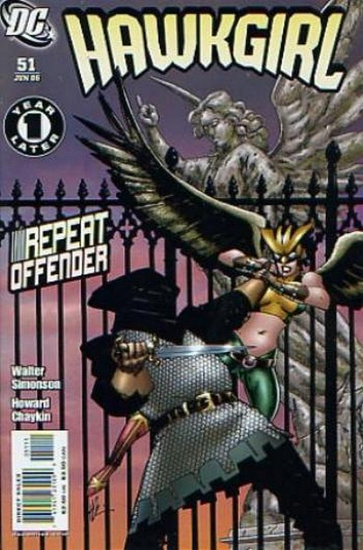 Cover of Hawkgirl (Vol 1) #51. One of 250,000 Vintage American Comics on sale from Krypton!