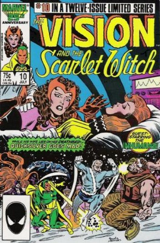 Cover of Vision & Scarlet Witch (1985 Ltd) #10. One of 250,000 Vintage American Comics on sale from Krypton!