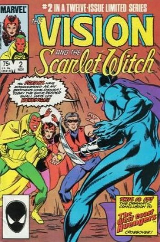 Cover of Vision & Scarlet Witch (1985 Ltd) #2. One of 250,000 Vintage American Comics on sale from Krypton!