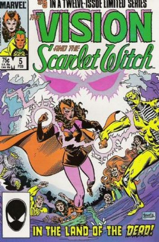 Cover of Vision & Scarlet Witch (1985 Ltd) #5. One of 250,000 Vintage American Comics on sale from Krypton!