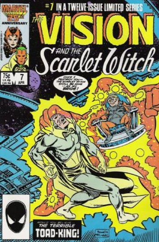 Cover of Vision & Scarlet Witch (1985 Ltd) #7. One of 250,000 Vintage American Comics on sale from Krypton!