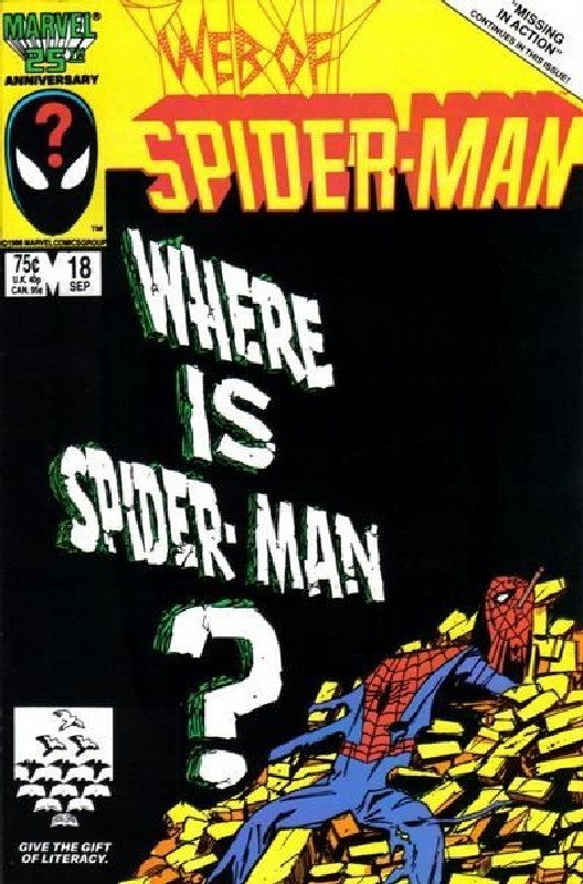 Cover of Web of Spider-Man (Vol 1) #18. One of 250,000 Vintage American Comics on sale from Krypton!