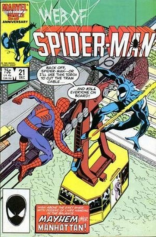 Cover of Web of Spider-Man (Vol 1) #21. One of 250,000 Vintage American Comics on sale from Krypton!