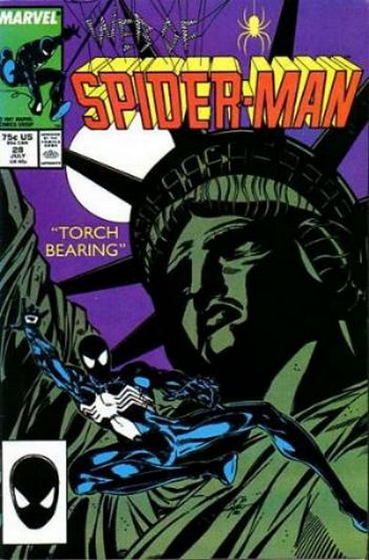 Cover of Web of Spider-Man (Vol 1) #28. One of 250,000 Vintage American Comics on sale from Krypton!