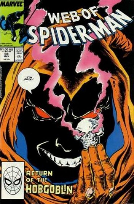 Cover of Web of Spider-Man (Vol 1) #38. One of 250,000 Vintage American Comics on sale from Krypton!