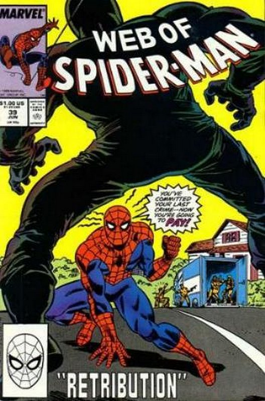 Cover of Web of Spider-Man (Vol 1) #39. One of 250,000 Vintage American Comics on sale from Krypton!